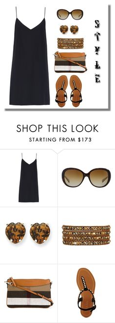 """""""Untitled #525"""" by gallant81 ❤ liked on Polyvore featuring Raey, Coach, Kevin Jewelers, Chan Luu, Burberry and Prada"""