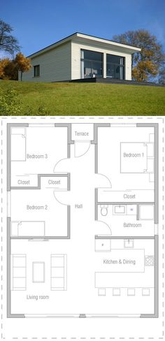 House Plan, Affordable Home Plan, Small House Plan Dream House Plans, Modern House Plans, Small House Plans, House Floor Plans, 3 Bedroom Home Floor Plans, Bungalow Floor Plans, Dream Houses, Affordable House Plans, Affordable Housing