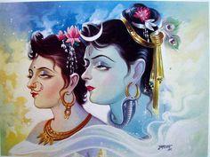 Shiva and parvati 3