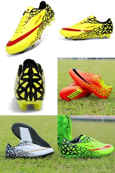 [Visit to Buy] Football Shoes Men Turf Soccer Cleats Boy Athletic Sneakers Soccer Boots Botas De Futbol Chuteira Futebol soccer shoes for Kids #Advertisement
