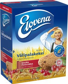 Elovena snack biscuit Frosted Flakes, Cereal, Snacks, Breakfast, Biscuit, Food, Morning Coffee, Appetizers, Eten