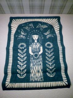 ILSE Roempke . Scandinavian Textile Art.  I believe from Norge. (?_) Famous Designs !
