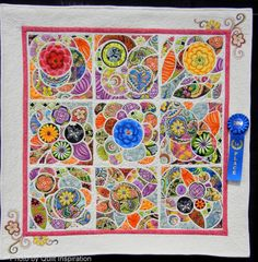 Road to California 2014:  Part 3. Kim's design is based on the book, Tile Quilt Revival by Carol Gilham Jones and Bobbi Finley. I adore this quilt - would love more information on how it was done.