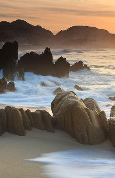 Playa localizada en Los Cabos, México