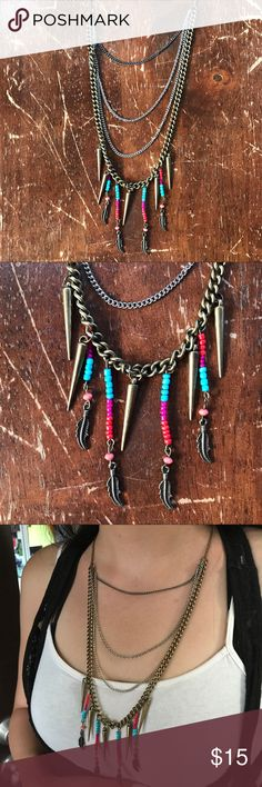 Chain Aztec Necklace This is unused and is beautiful. It's got both, silver and gold. Jewelry Necklaces