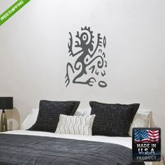 Wall Vinyl Decal Decal Sticker Beautiful Anubis Egypt Symbol Bedroom z90