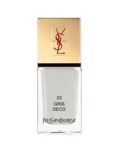 Yves Saint Laurent La Laque Couture in N 23 Gris Deco | best brushes, excellent pigments