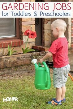 Gardening Jobs for Toddlers and Preschoolers