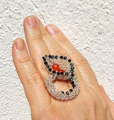 """Calla"" flower ring wire crochet original from spring collection 9 april. Wire Crochet, Spring Collection, Gemstone Rings, Gemstones, The Originals, Flowers, Jewelry, Art, Art Background"