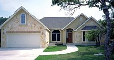 This luxury home is filled with design details for pampered living.  House Plan # 331009.