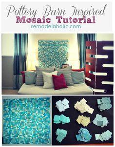 Mosaic headboard tutorial