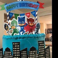 PJ Masks Cake Topper Pj Masks Birthday Pj Masks Party Pj | Etsy Pj Masks Cake Topper, Cake Toppers, Birthday Cale, Happy Birthday, Name Banners, Mask Party, Birthdays, Etsy, Kids