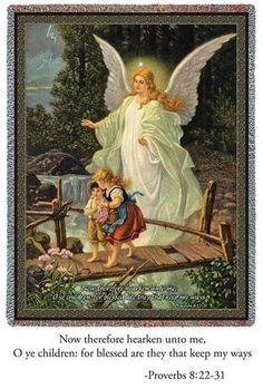 Heilige Schutzengel print of a Guardian Angel. My mother put this in my room as a child Guardian Angel Pictures, Guardian Angels, Angels Among Us, Angel Art, Faith, Fine Art, Art Prints, Artwork, Bedroom Wall