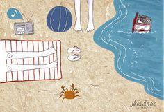 Summer Illustration by Nuria Diaz