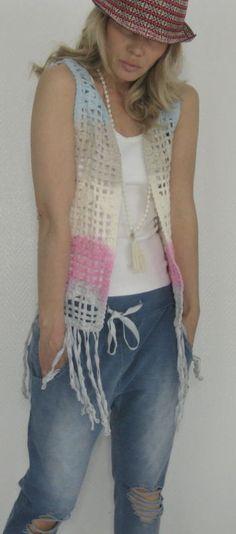 7 besten Hippie weste Bilder auf Pinterest | Crochet dresses ...