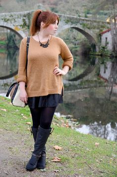 oversize-sweater. Look casual chic.