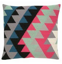 74-0308 Kelim 3 Modern Tapestries, Pillow Inspiration, Textile Art, Needlepoint, Needlework, Flora, Cross Stitch, Textiles, Tapestry