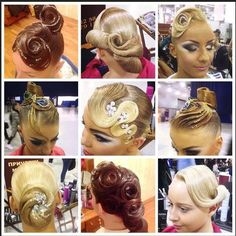 dancesport hair