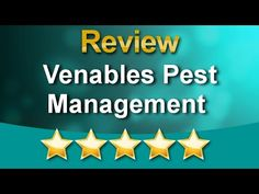 Venables Pest Management Review - 5 Star Review by Rebecca Robert Pest Management, Stars, Reading, Videos, Sterne, Reading Books, Star