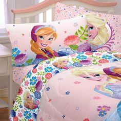 Disney Frozen Bed Sheet Set Elsa Anna Floral Breeze Bedding