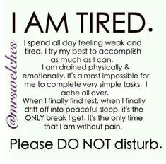 Except that I can't fall asleep! The pain won't let me.