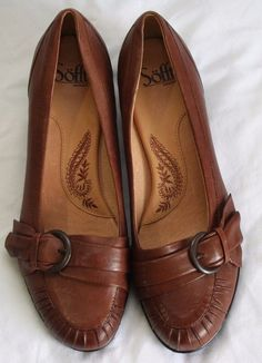 3334a850b757 Womens Sofft Shoes Size 9.5 Leather Brown Low 1.5