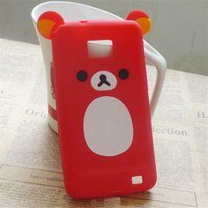 Cute Cartoon Rilakkuma Bear Silicone Case Cover For Samsung Galaxy S2 i9100 i9105 SII Plus Back Cover Capa Free Film