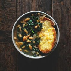 Tuscan Kale, White Bean, and Bread Soup | Here Are 21 Healthy Fall Soups To Stock Your Freezer