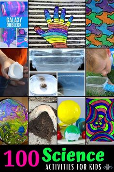 These 100 science activities for kids are paired with other STEAM disciplines for some great hands-on learning opportunities! #STEMeducation #kidscience #summerscience #STEAM Summer Science, Science Activities For Kids, Hands On Learning, The 100