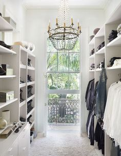 I like how there are shelves for clothes as well as a rod for hanging items.  good use of space.