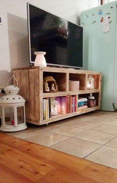 handmade tv stand from pallet wood media console by GARAGEbySilvio