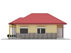This 3 bedroom house design has a total floor area of 82 square meters. Minimum lot size required for this design is 167 square meters with 10 meters lot width to maintain meters setback both side. Little House Plans, Small House Floor Plans, My House Plans, House Layout Plans, Flat House Design, Modern Bungalow House Design, Simple House Design, Bungalow Floor Plans, Affordable House Plans