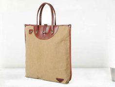 Leather & Canvas Tote