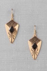 Evora Shield Drop Earrings- Francescas- $14.00