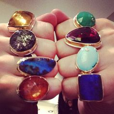 Colorful candy rings from Jamie Joseph at quadrumgallery.com!