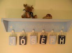 Blue baby toddler BOY nursery decor  Child by Inspiredblessings