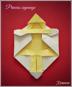 Designed as a signage for my girl's bedroom door. It;s simple and playful.  It can also stand up.  More details here. http://reneerae.blogspot.hk/2014/03/origami-designscreations-femininity.html