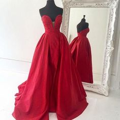 red prom dress,taffeta prom gowns,long prom dress,sweetheart evening dress,formal evening gowns,prom dress 2017