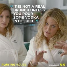 Truth.   From the 2nd episode of USA's new comedy, Playing House. Tuesdays at 10!