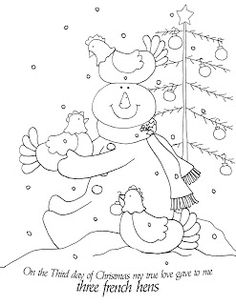 Free Dearie Dolls Digi Stamps: On the Third Day of Christmas.....