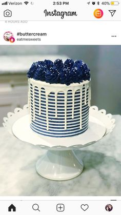 15 Beautiful Cake Designs that Are Out of This World Gorgeous Cakes, Pretty Cakes, Cute Cakes, Amazing Cakes, Crazy Cakes, Fancy Cakes, Food Cakes, Cupcake Cakes, Barbecue Party