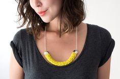 Klobige stricken Halskette / / Wassermelone / / von AtikaJewelry