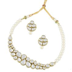 Buy Karatcart Hybrid Pearl Kundan Necklace Set for Women Online at Low Prices in India | Amazon Jewellery Store - Amazon.in