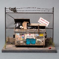 Joshua Smith's miniature urban sculptures