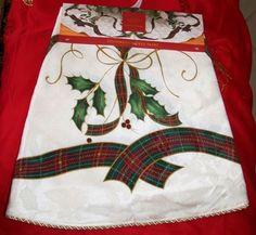 "NEW Lenox HOLIDAY NOUVEAU Christmas Tree Skirt Round 60"" Decoration | eBay"