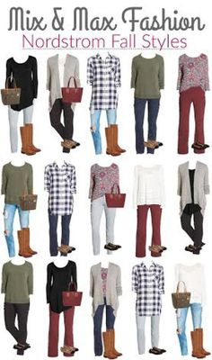 Nordstrom Fall Styles - key pieces to mix and match for a casual fall wardrobe-put together fall outfits that mix and match-Nordstrom fall style
