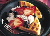 Belgian Waffles with Berry Cream http://www.bettycrocker.com/recipes/belgian-waffles-with-berry-cream/72a975a1-8ee4-463d-a3fe-654735e98627