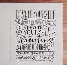 #community #quotes #lettering Emily Poe-Crawford via @fromupnorth