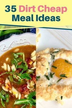 If you are trying to get your grocery budget under control, then you need to add these dirt cheap meals to your monthly meal plan. These cheap recipes will help you feed your family on a budget whether your meal prepping for two or a large family and most of these meals are under $2 per serving and there are many recipes to add to your weekly menu for less than $1. These budget dinner, lunch, and breakfast ideas will help you to save money on groceries while feeding your family healthy…
