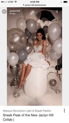 53 Ideas Birthday Balloons Pictures Happy For 2019 19th Birthday, Girl Birthday, 25th Birthday Ideas For Her, Birthday Makeup, Birthday Photoshoot Ideas, Happy Birthday, 18th Birthday Dress, 21st Birthday Themes, 18th Birthday Party Themes